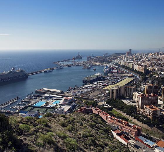 Panoramique du Port de Santa Cruz de Tenerife