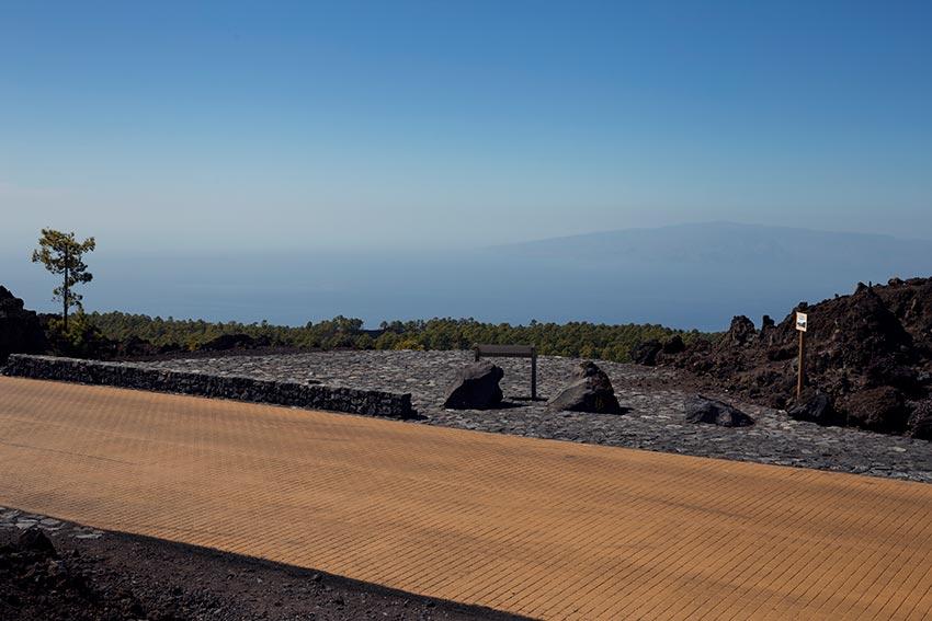 Vue de l'Île de la Gomera depuis le Belvédère de Los Poleos