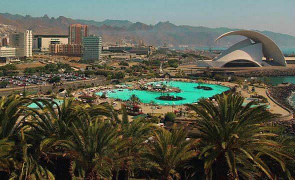 Panoramique du Parc maritime de Santa Cruz de Tenerife